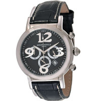 Mount Royale Unisex Watch Black Dial Leather Band Sport-7P91