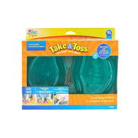 The First Years Take & Toss Double Duty Plates 4pack