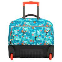 Delsey School Trolley Bag Turquoise Tropical Print