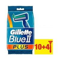 Gillette Blue 2 Plus Disposable Razors 10+4 Pieces Free