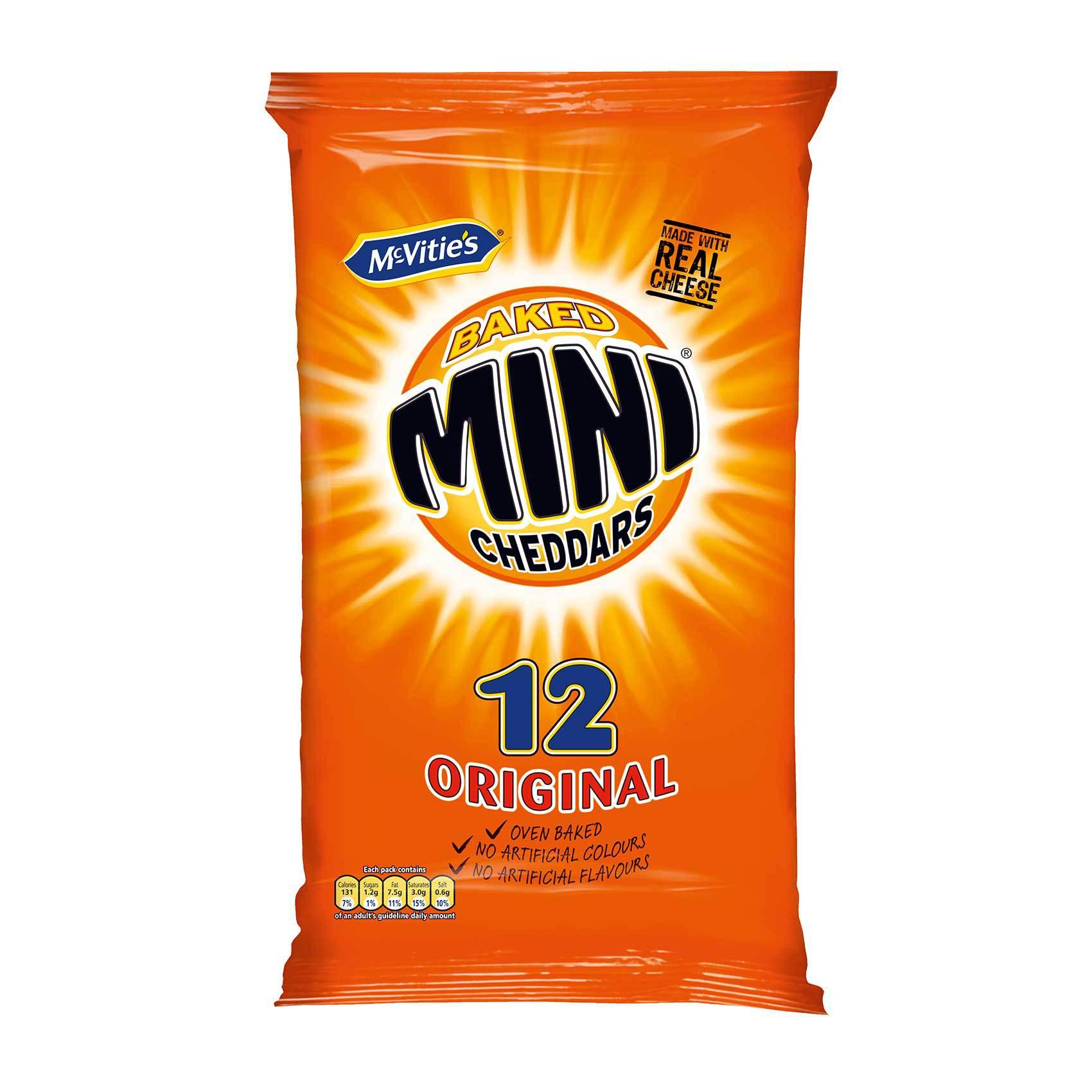 MCVITIES MINI CHEDDARS 50G