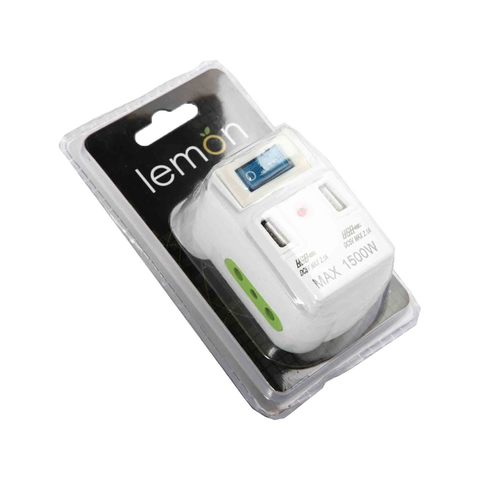 Lemon UK Adapter With Button