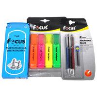 Focus Math Set+4 Highlighter+ 3 Mechanical Pencils