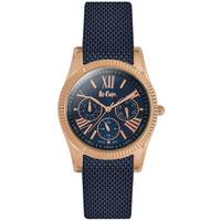 Lee Cooper Women's Multi-Function Rose Gold Case Blue Super Metal Strap Blue Dial -LC06319.530