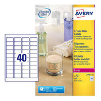 Avery Crystal Clear Label SL7781-25