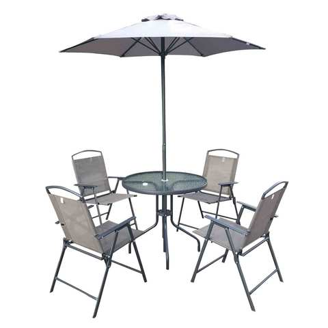 Hk Patio Set Foldable 4p