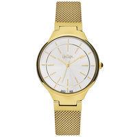 Lee Cooper Women's Analog Gold Case Gold Super Metal Strap Silver Dial -LC06336.130