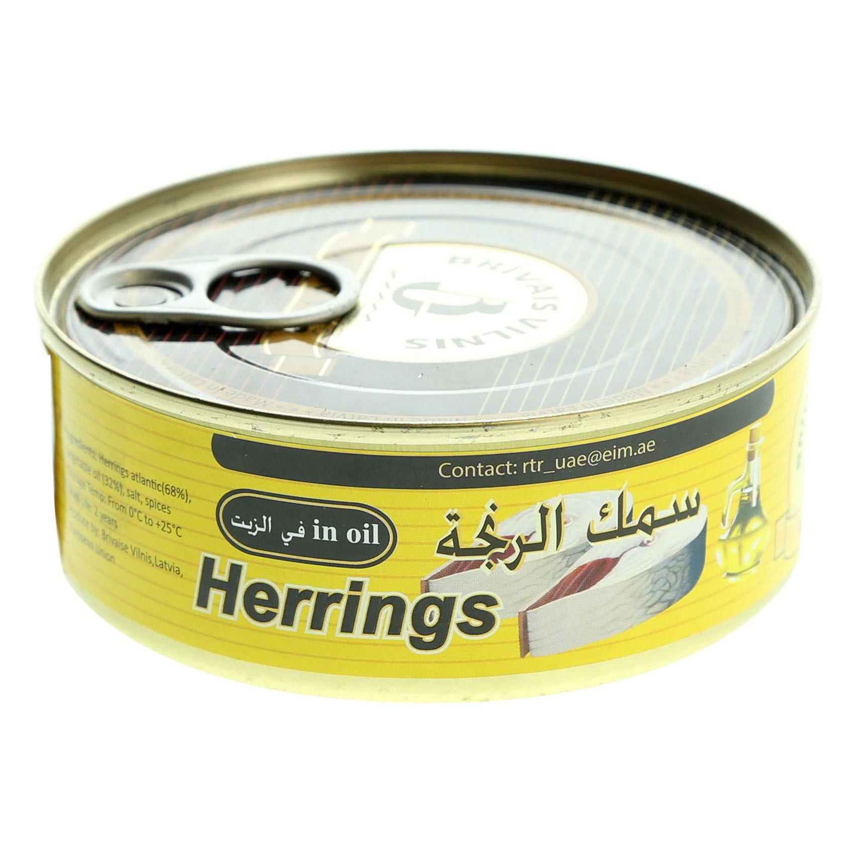 B.V HERRING IN OIL 240G