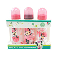 The First Years Minnie Feeding bottle 8oz Slim 3 pack