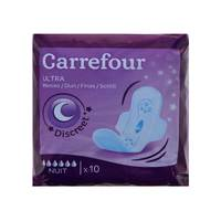 Carrefour Ultra Thin Night Sanitary Pads 10 Pieces