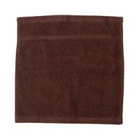 كنزي منشفة للوجه قياس 30x30 سم لون بني