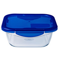 Pyrex Cook & Go Glass Square Roaster With Lid 0.9L