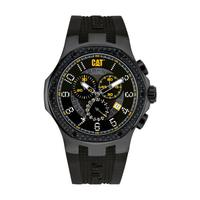 CAT Men's Watch Navigo Carbon Chrono Analog Black Dial Black Fabric / Rubber Band 44mm  Case
