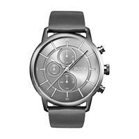 Hugo Boss Men's Watch ARCTL Analog Grey Dial Dark Grey  Leather Band 44mm  Case