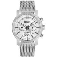 Lee Cooper Men's Multi-Function Silver Case Silver Super Metal Strap Silver Dial -LC06357.330