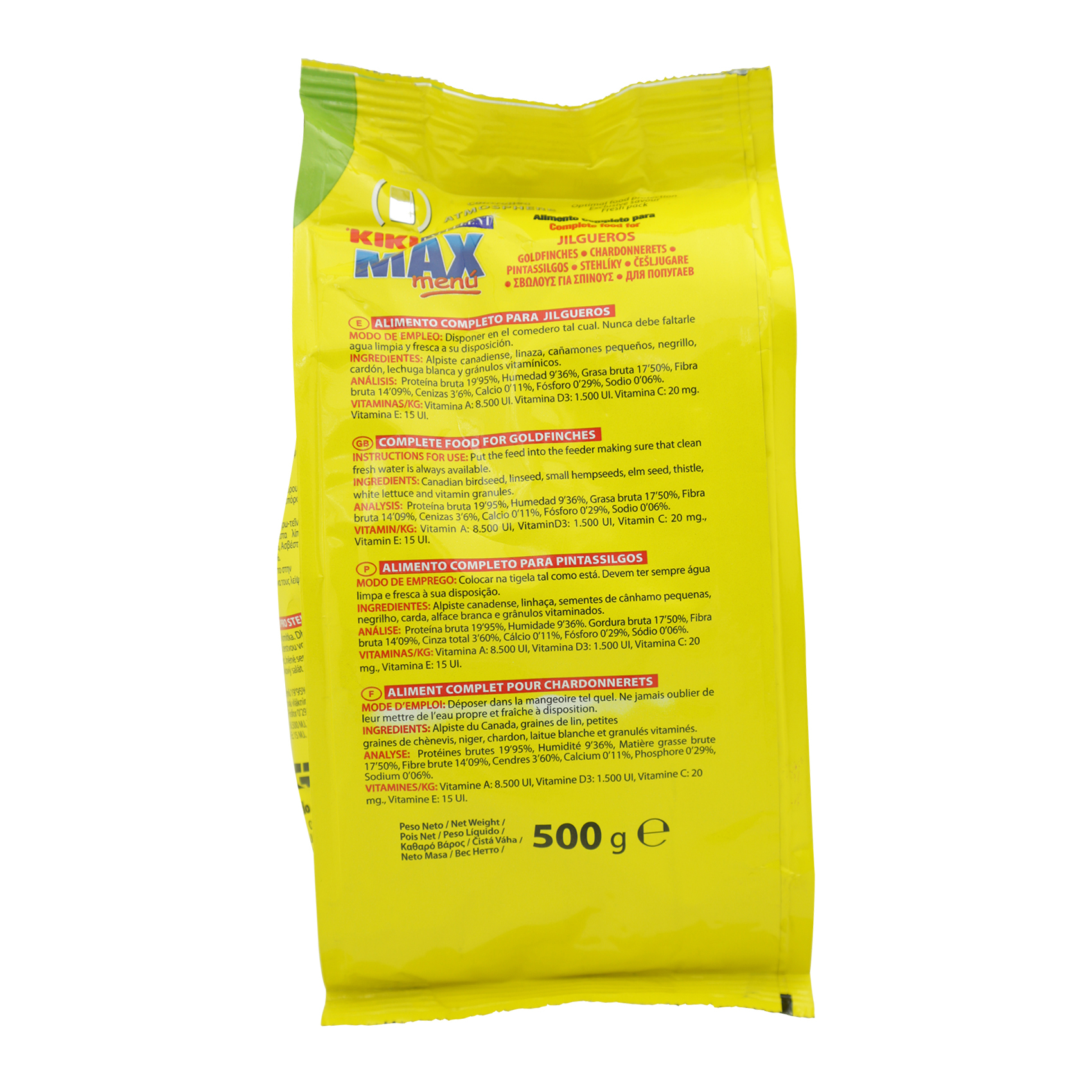 KIKI EXCELL GOLDFINCHES 500G