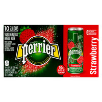 Perrier Sparkling Mineral Water Strawberry 250mlx10