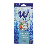 Maries 12 Water Colours Tubes