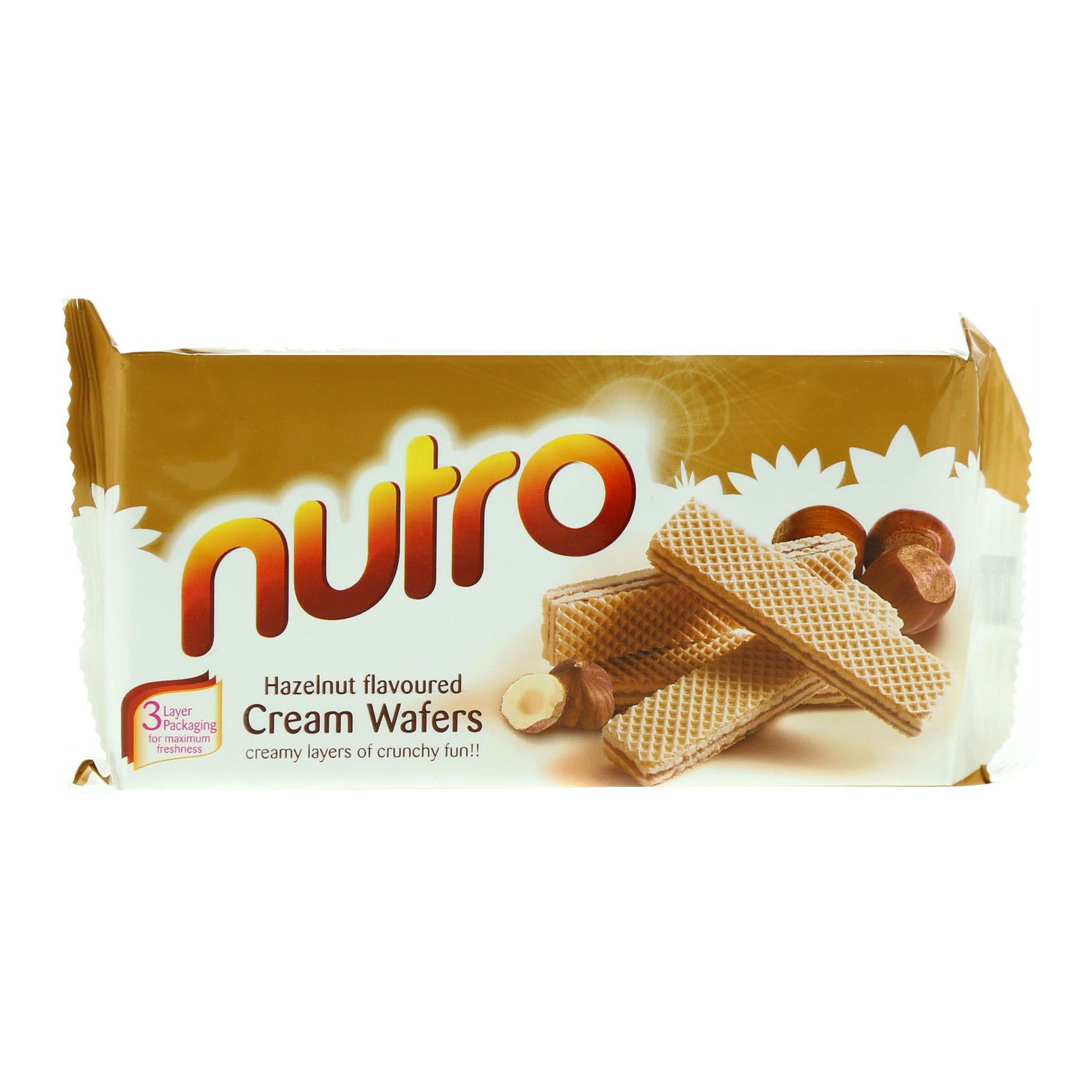 NUTRO HAZELNUT WAFERS 75G