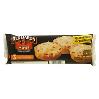 Red Baron Minis Dip Dish 3 Cheese Pizzas 115g