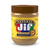 JIF Peanut Butter Natural Honey Crunch 453GR