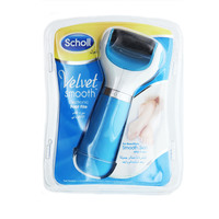 Scholl Velvet Smooth Electronic Foot File with Diamond Crystal Blue