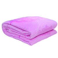 3D Super Soft Flannel Blanket Single Purple