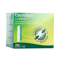Carrefour Tampons with Compact Applicator x20