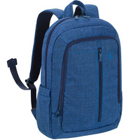 "RivaCase BackPack Canvas 7560 15.6"" Blue"