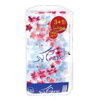Care Facial Tissue 225 2 Ply 4 Pieces