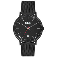 Lee Cooper Men's Watch Analog Display Black Dial Black Pure Metal Bracelet - LC06382.660