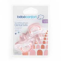 Bebeconfort Dental Safe Silicone Soothers Little Valleys Red (0 -6 M) x2