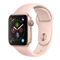 Apple Watch Series-4 GPS 44mm Gold Aluminium Case with Pink Sand Sport Band (MU6F2AE/A)