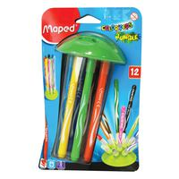 Maped Jungle Innovation Color Peps 12 Felt Pens With Holder