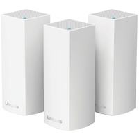 Linksys Wireless Modular Whole Home Wi-Fi Mesh SystemWHW0303 Velop Tri-Band AC6600 Pack of 3