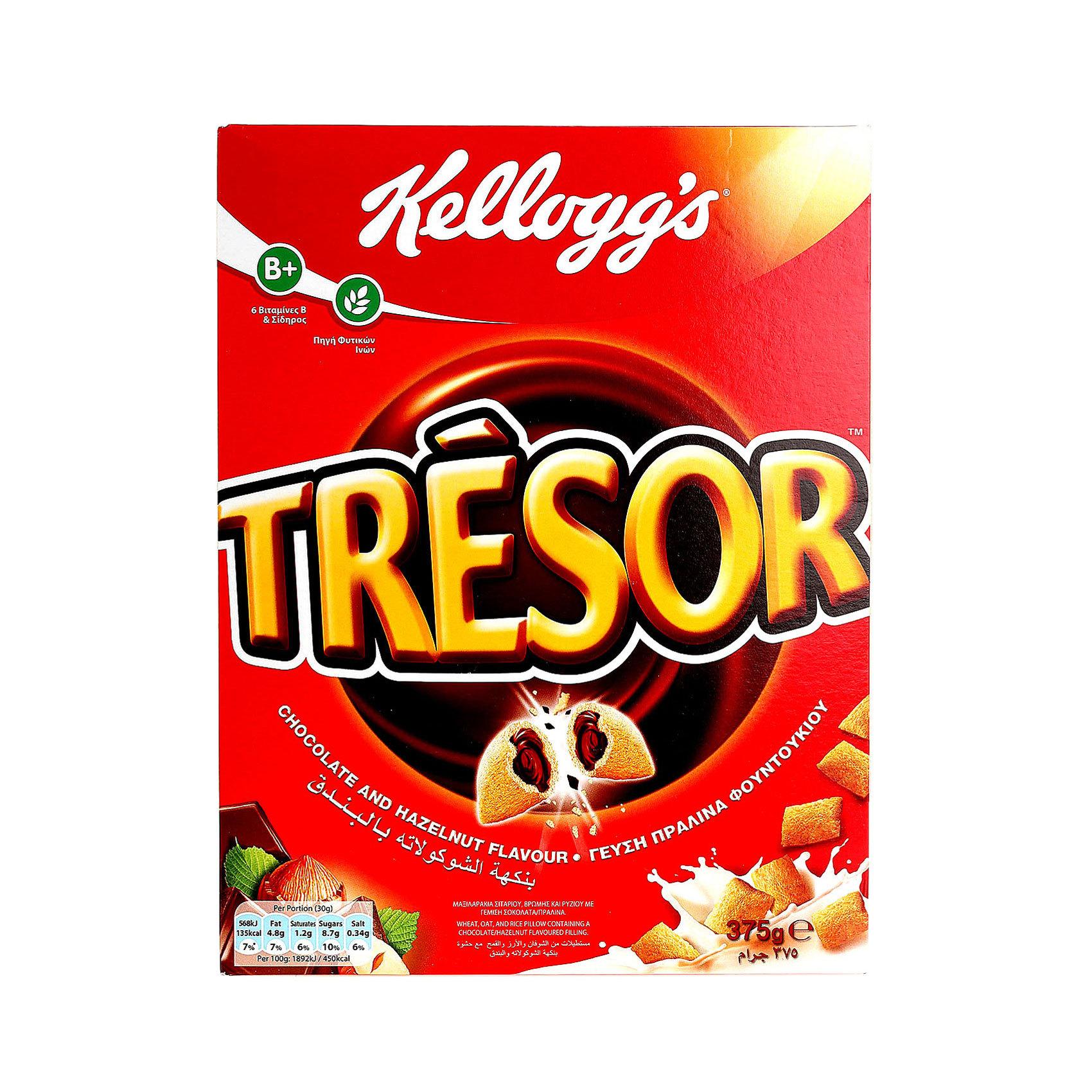 KELLOGG'S TRESOR CHOC HAZELNUT 375G