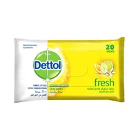 Dettol Antibacterial Skin Wipes Fresh 20s