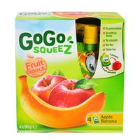 Gogo Squeez Fruit Snack Apple 90gx4