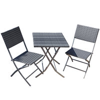Steel Wicker Foldable Set 2 Chair