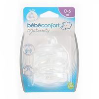 Bebeconfort Maternity Wide-Base Teat Silicone S.0 - Transition Slow x2