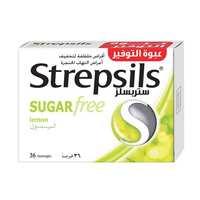 ستريبسلزبالليمون خالي من السكر 36 قرصًا