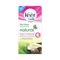 Veet Wax Strips Shea Butter Normal Skin 20 Sheets