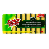 Scotch Brite Heavy Duty Scrub Sponge (Family Value Pack X9)
