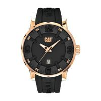CAT Men's Watch Bold Analog Black Dial Black Fabric / Rubber Band 46mm  Case