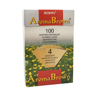 Filtropa  Aroma Brown Unbleached Coffee Filter N4 100 Sheets