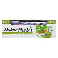 Dabur Herbal Neem Toothpast 150g with Free Toothbrush