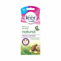 Veet Pure Facial Wax Strips Argan Oil 20 Sheets