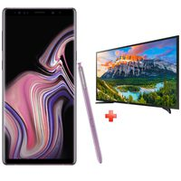 "Samsung Galaxy Note 9 (SM-N960FZ) Dual Sim 4G 512GB Purple + Samsung 40"" LED TV"