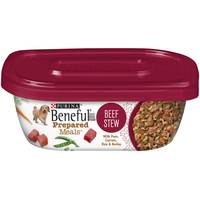 Purina Beneful Prepared Dog Food Meal Beef Stew Tub 283g
