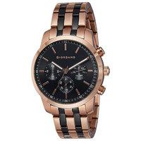 Giordano Men's Watch Multi Function Display Black Dial TT Black Stainless Steel Bracelet - 1772-55